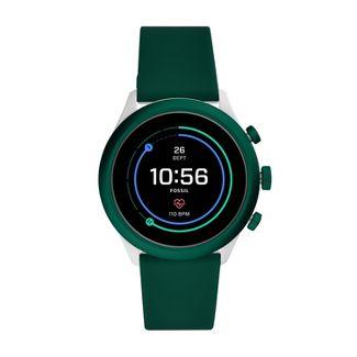 Fossil Sport Smartwatch - 43mm Dark Green Silicone