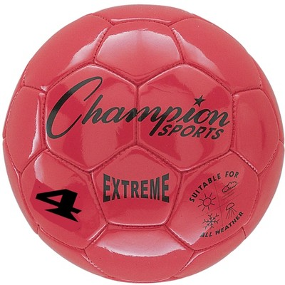 Extreme Series Size 4 Soccer Ball, Red