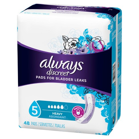 Always Discreet Incontinence Pads for Women - Heavy Absorbency - 48ct - image 1 of 4