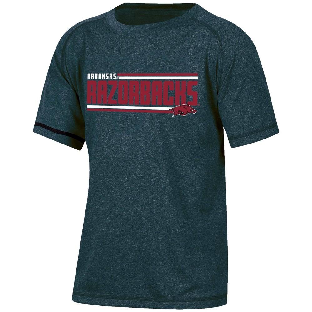 Ncaa Arkansas Razorbacks Boys Short Sleeve Performance T Shirt Xs