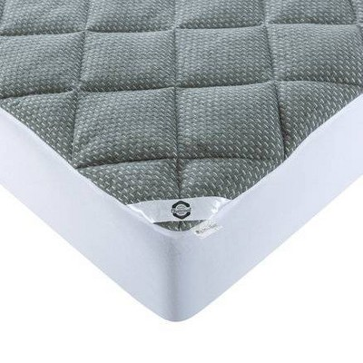 Queen Charcoal Infused Mattress Pad - St. James Home
