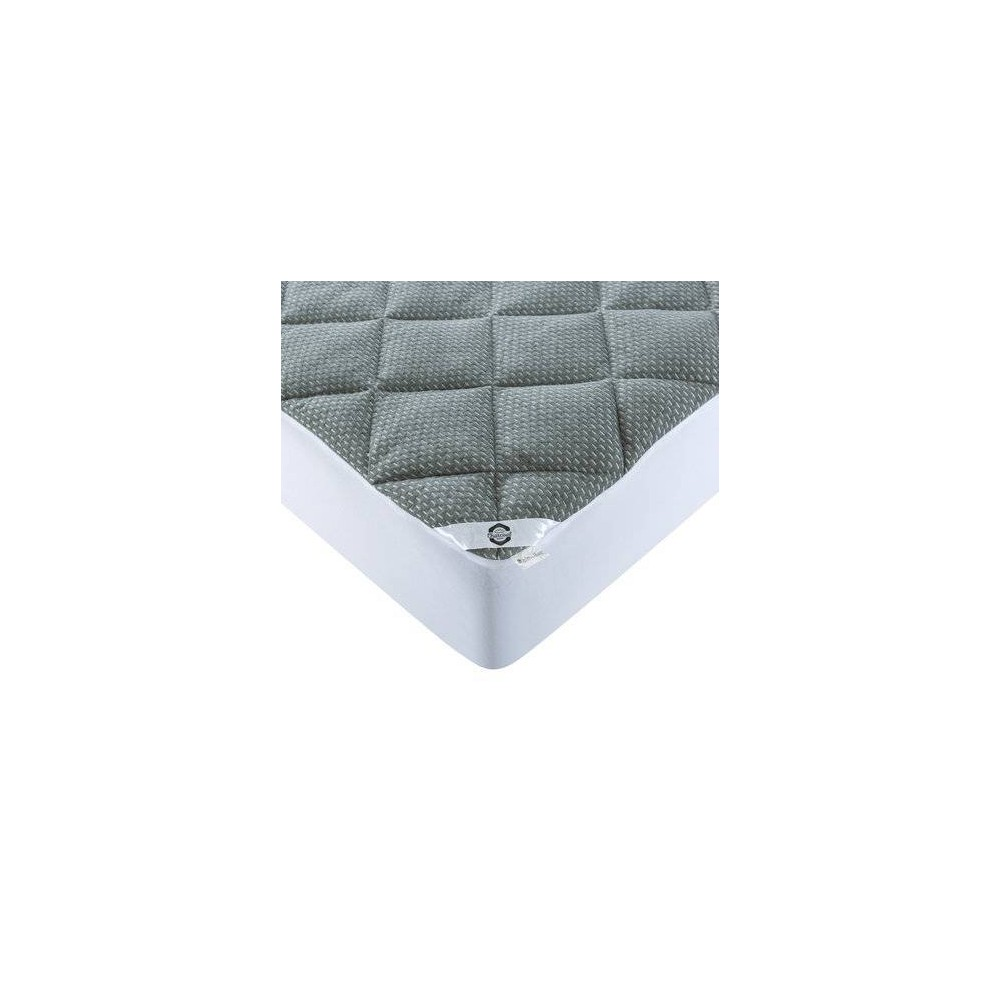Image of King Charcoal Infused Mattress Pad - St. James Home