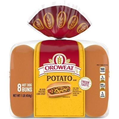 Oroweat Potato Hot Doh Buns - 1lbs
