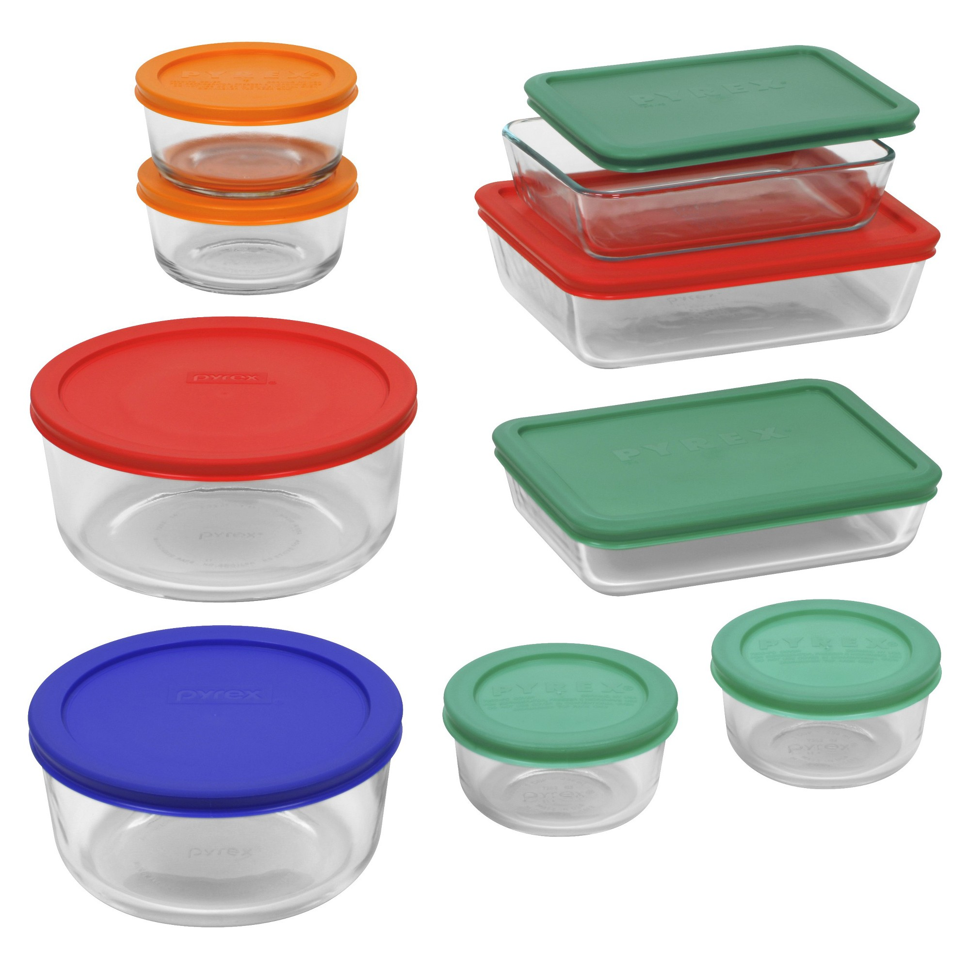 Pyrex 18pc Glass Food Storage Set, Clear