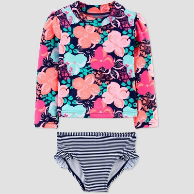 Toddler Girls' Floral Swim Rash Guard Set - Just One You® made by carter's Pink 3T