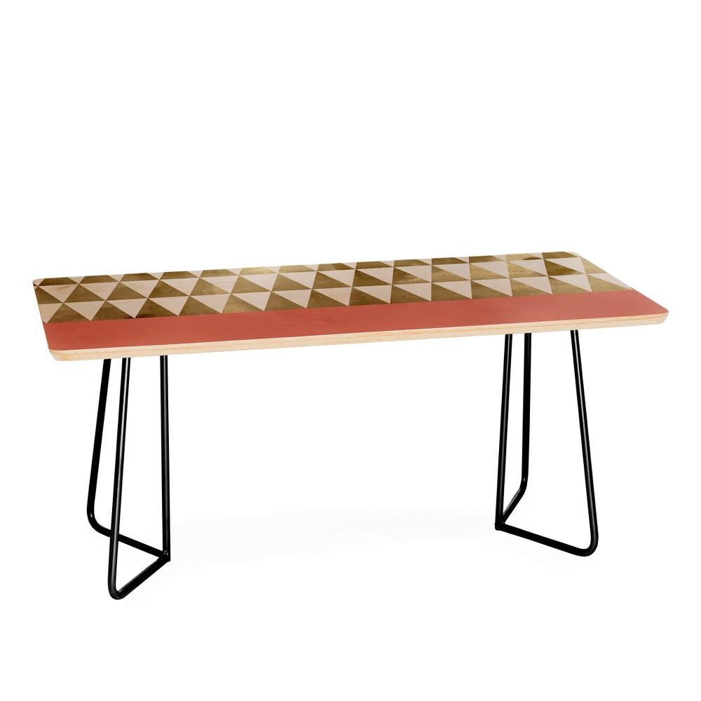 Georgiana Paraschiv Triangles Coffee Table with Black Aston Legs - Deny Designs, Black Legs