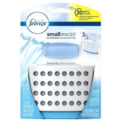 Febreze Small Spaces Linen & Sky Starter Kit Air Freshener - 1ct 5.5ml - image 1 of 9