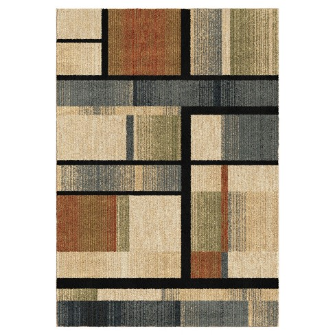 New Horizons Blocked Colors Woven Rug Orian Rugs