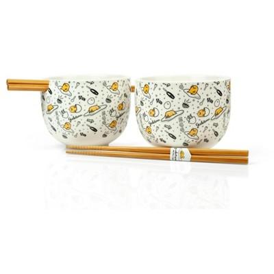Seven20 Gudetama Bowl & Chopstick Set | Ceramic