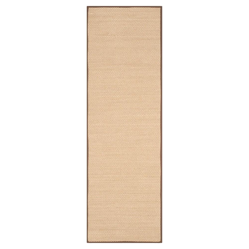 Natural Fiber Rug - Maize/Brown (Yellow/Brown) - (2'6x8') - Safavieh