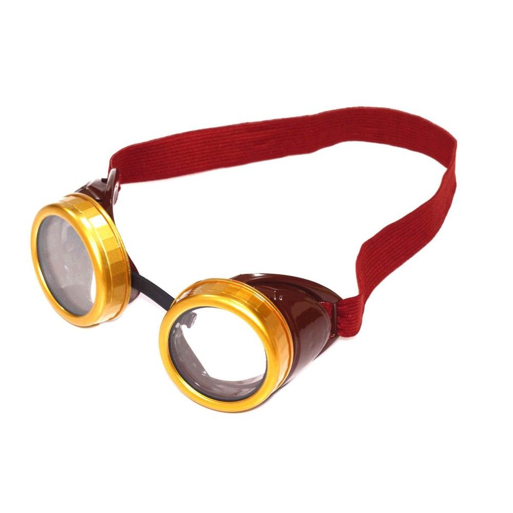 Image of Adult Steampunk Goggles, Men's, Brown