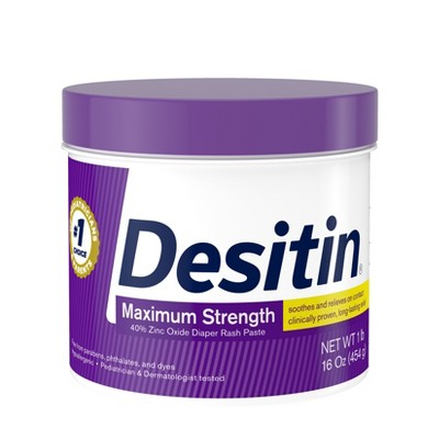 Desitin Maximum Strength Diaper Rash Cream with Zinc Oxide - 16oz