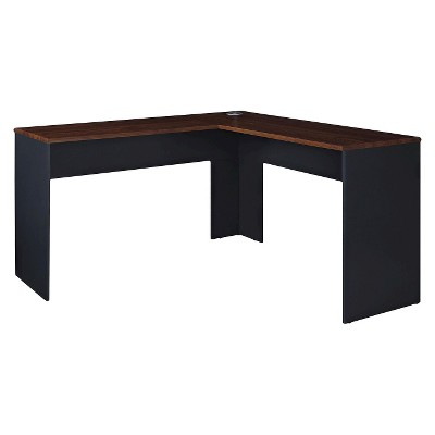 L Shaped Eastcrest Contemporary Desk Cherry/Slate Gray - Room & Joy