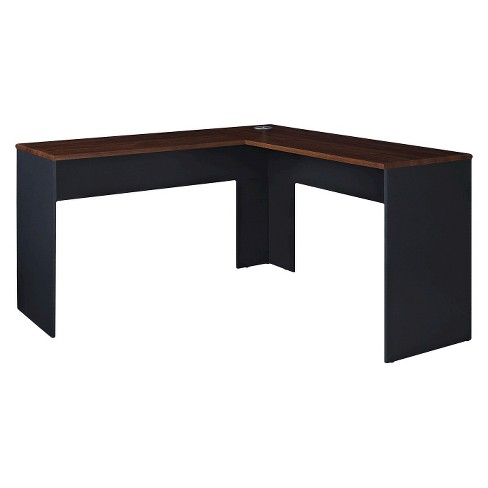 Eastcrest Contemporary L Shaped Desk Cherry Slate Gray Room Joy