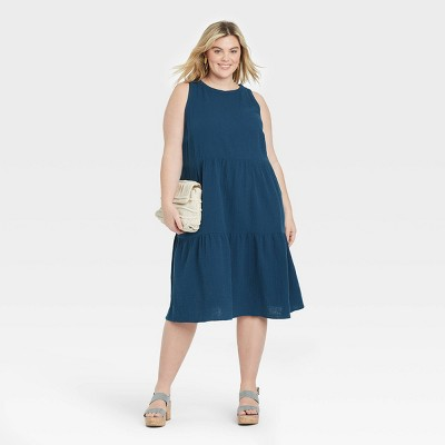 Women's Plus Size Sleeveless Casual Dress - Ava & Viv™
