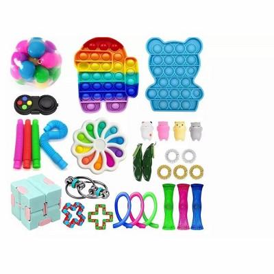 Link 31 Piece Fidget Sensory Toy Set For Kids & Adults Stress Anxiety Relief Classroom Rewards Treasure Box Pinata Prizes