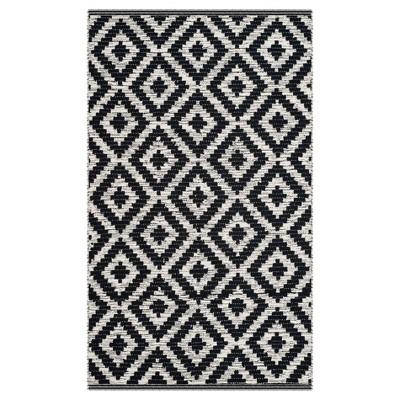 Black/Ivory Geometric Woven Area Rug 8'X10' - Safavieh