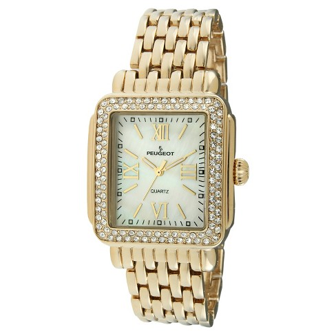 Peugeot Women's Gold tone crystal bezel watch - image 1 of 2