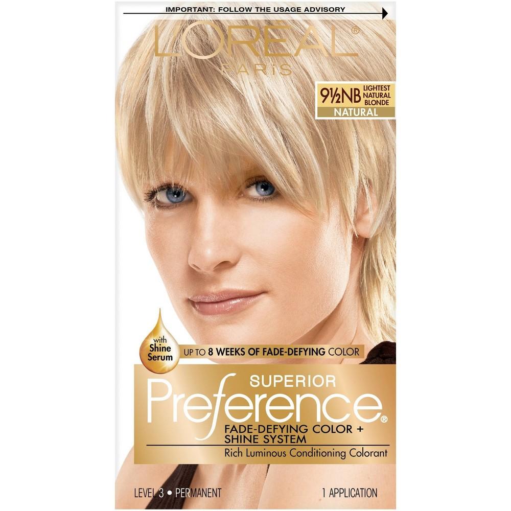 L 39 Oreal Paris Superior Preference Fade Defying Color Shine System 18 Fl Oz 9 5nb Lightest Natural Blonde 1 Kit
