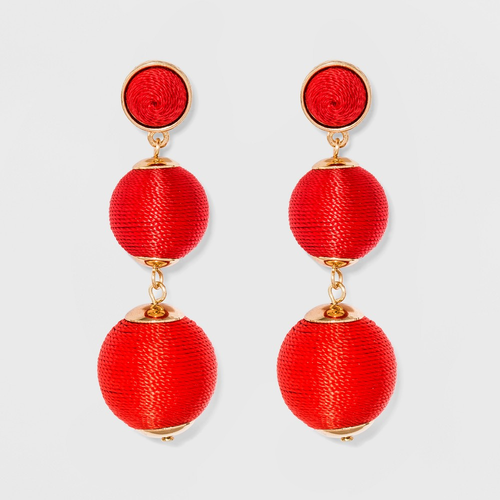 Sugarfix by BaubleBar Ball Drop Earrings - Red, Girl's
