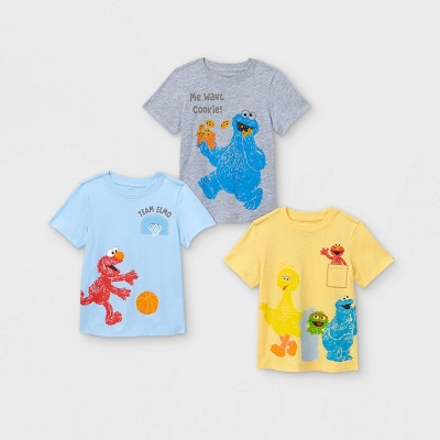 Toddler Boys' 3pc Sesame Street Short Sleeve Graphic T-Shirt