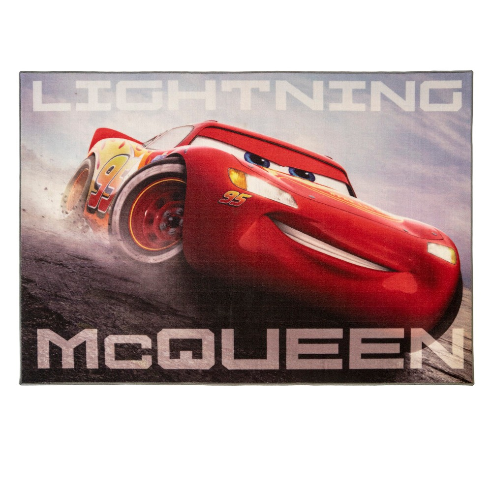 "Image of ""Cars 4'6""""X6'6"""" Disney McQueen Gary Rug, Multi-Colored"""