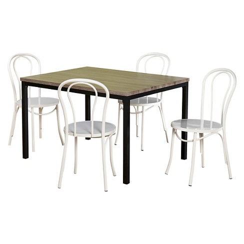 Vintage Inspire Dining Set Black/Gray/White 5 Piece - TMS - image 1 of 2