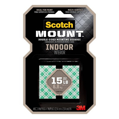 "Scotch 1"" Indoor Mounting Squares"