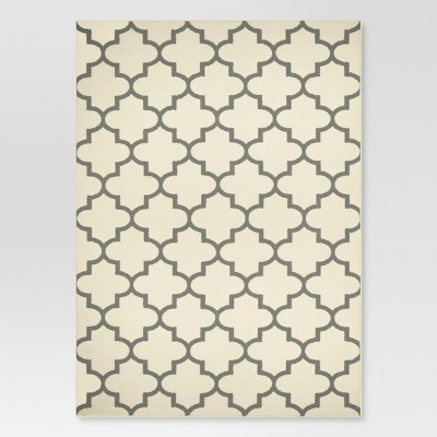 "2'6""x4' Fretwork Design Accent Rug Cream - Threshold™"
