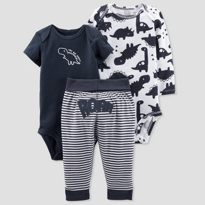 Baby Boys' 3pc Turn Me Around Dino Set - Just One You® made by carter's Navy 3M