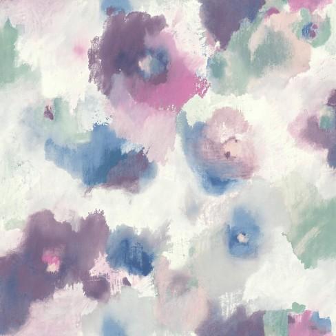 Impressionist Floral Peel & Stick Wallpaper - RoomMates - image 1 of 4