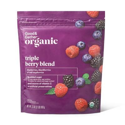 Organic Frozen Triple Berry Blend - 32oz - Good & Gather™