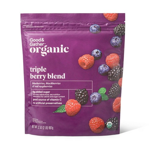 Organic Frozen Triple Berry Blend - 32oz - Good & Gather™ - image 1 of 2