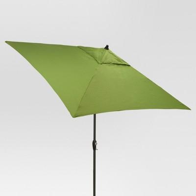 6.5' Square Umbrella - Green - Black Pole - Threshold™