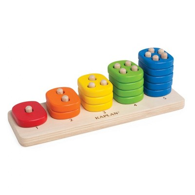 Kaplan Early Learning Toddler Stacking Number Board