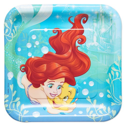 The Little Mermaid 8ct Paper Dinner Plates - image 1 of 2