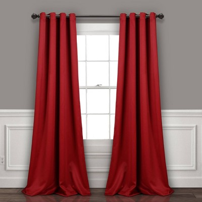 Set of 2 Insulated Grommet Top Blackout Curtain Panels - Lush Décor