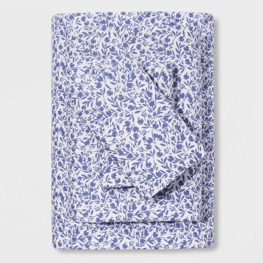Vintage Washed Sheet Set (Full) Purple Floral Ditsy - Threshold