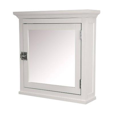 Madison Avenue Wall Cabinet 1 Door White - Elegant Home Fashions