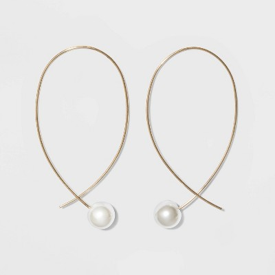 Pearl Thread Earrings - A New Day™ Gold