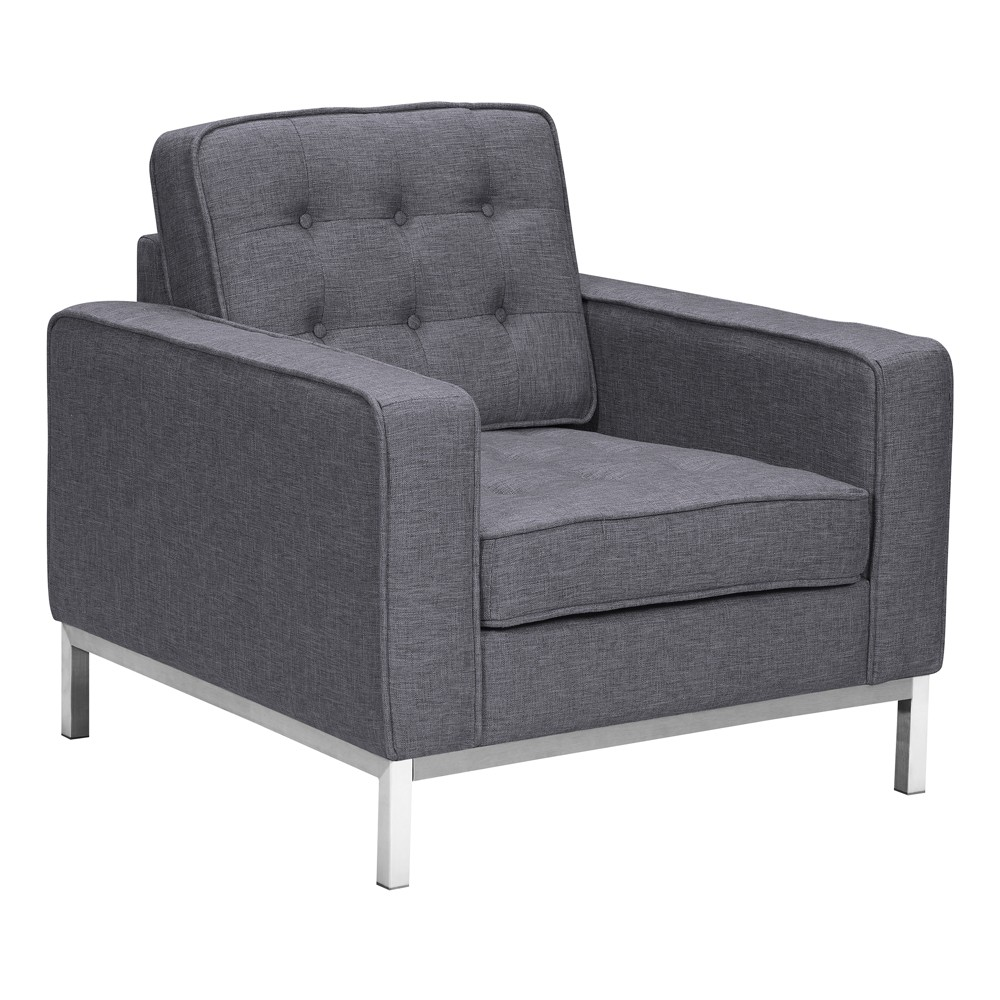 Sirte Contemporary Sofa Chair Dark Gray - Modern Home