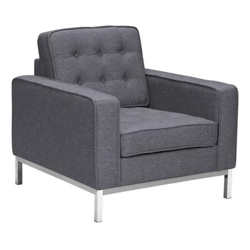 Sirte Contemporary Sofa Chair Dark Gray - Modern Home