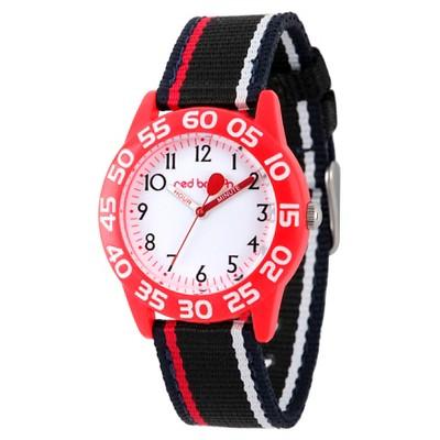 Boys' Red Balloon Red Plastic Time Teacher Watch - Black