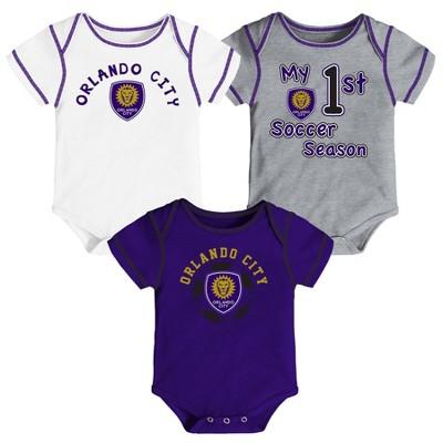MLS Orlando City SC Baby 3pk Bodysuit Set
