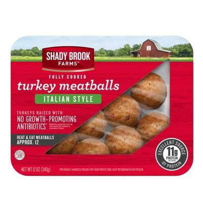 Shady Brook Farms Fully Cooked Italian Style Turkey Meatballs - 12oz