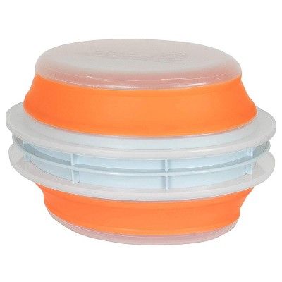 CanCooker Chemical-Free and Dishwasher/Microwave-Safe Collapsible Mess-Free Food Preparation Batter/Breading Cooking Bowl, Orange