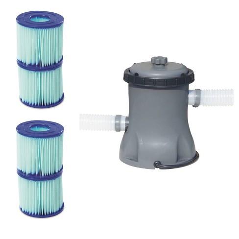 Bestway Pool Filter Pump Cartridge Type VII/D (2 Pack) + Pool Filter Pump - image 1 of 4