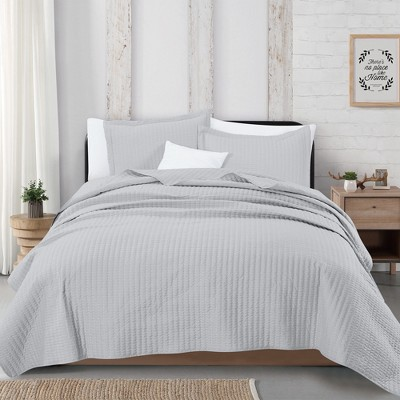 Great Bay Home Alicia Collection Channel Stitch Quilt Set