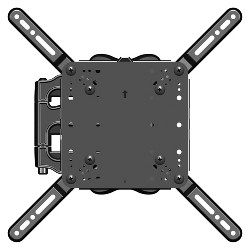 "Sanus Medium Full Motion TV Mount 26""-47"" Black (AMF215-B1)"