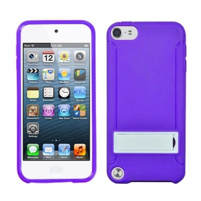 MYBAT For Apple iPod Touch 5th Gen/6th Gen Purple White Hard TPU Plastic Case w/stand
